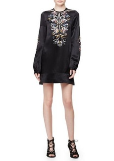 Nanette Lepore Long-Sleeve Embroidered Shift Dress