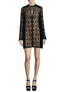 Nanette Lepore Long-Sleeve Lace Shift Dress  Long-Sleeve Lace Shift Dress