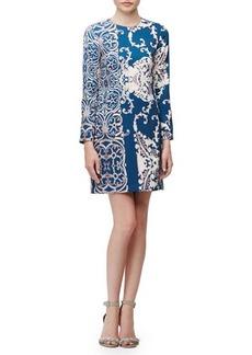 Nanette Lepore Long-Sleeve Paisley-Print Dress  Long-Sleeve Paisley-Print Dress