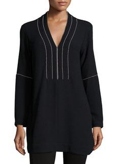 Nanette Lepore Long-Sleeve V-Neck Tunic  Long-Sleeve V-Neck Tunic