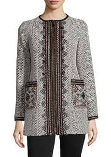 Nanette Lepore Matador Embroidered Zip-Front Coat