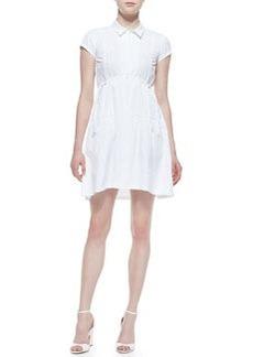 Nanette Lepore Melody Arch-Waist Poplin Dress