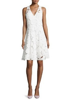 Nanette Lepore Mi Amor Sheath Dress with Cutwork Embroidery, White