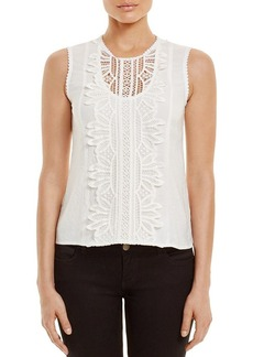 Nanette Lepore Midday Sun Lace Paneled Top