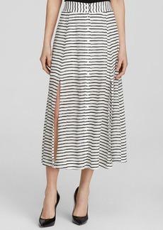 Nanette Lepore Midi Skirt - Au Revoir Striped