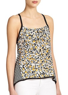 Nanette Lepore Mixed Media Racerback Tank Top