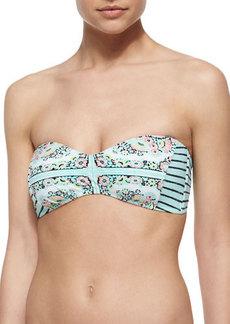 Nanette Lepore Montecito Printed Bandeau Swim Top