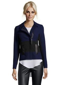 Nanette Lepore navy and black textured poly blend 'West Coast Jacket'