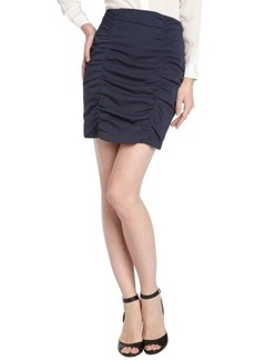 Nanette Lepore navy ruched pencil skirt