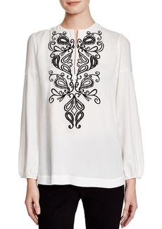 Nanette Lepore Nighttime Embroidered Top