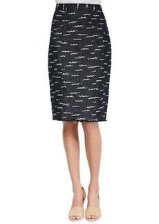 Nanette Lepore Nomad Slim Combo-Weave Skirt