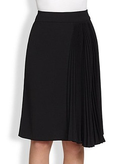 Nanette Lepore Off-Center Pleats Skirt