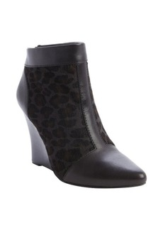 Nanette Lepore olive leopard calf hair 'Intoxicating' wedge heel booties