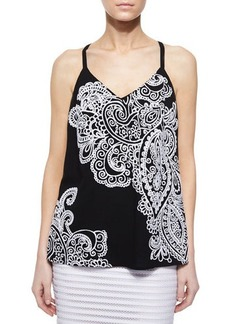 Nanette Lepore On the Edge Paisley Tank  On the Edge Paisley Tank