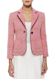 Nanette Lepore One-Button Blazer with Piped Trim