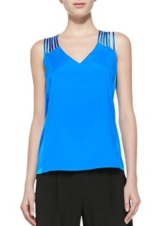 Nanette Lepore Othello Caged Silk Tank