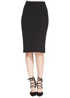 Nanette Lepore Ottoman Ribbed Knit Pencil Skirt