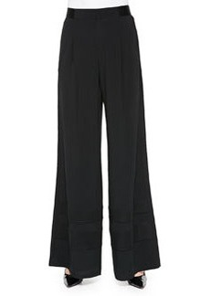 Nanette Lepore Palace Satin-Panel Wide-Leg Pants