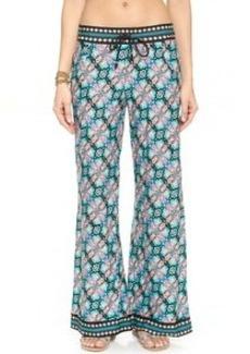 Nanette Lepore Paloma Beach Pants with Printed Border
