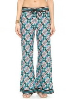 Nanette Lepore Paloma Beach Pants with Printed Border