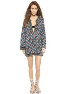 Nanette Lepore Paloma Tunic with Embroidered Contrast