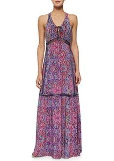 Nanette Lepore Panama City Printed Lace-Up Maxi Dress
