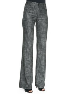 Nanette Lepore Paperback Wide-Leg Patterned Suit Pants