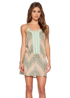 Nanette Lepore Paso Robles V Neck Mini Dress
