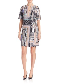 Nanette Lepore Patchwork Tunic Dress