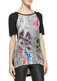 Nanette Lepore Quick-Wit Printed Combo Tee