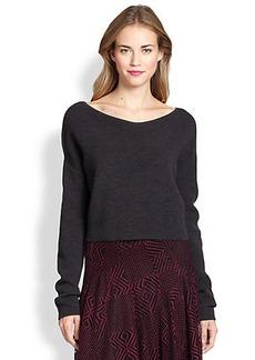 Nanette Lepore Ribbed Crop Pullover