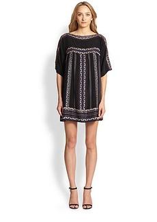 Nanette Lepore Run Free Silk Tunic Dress