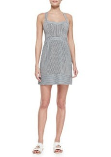 Nanette Lepore Runaway Sweetheart Striped Twill Dress