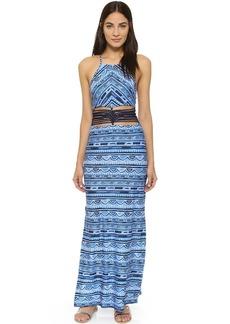 Nanette Lepore Santorini Scallop Maxi Dress
