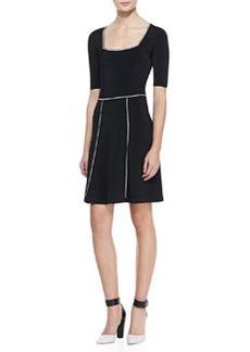 Nanette Lepore Scandalous Contrast-Trim Dress