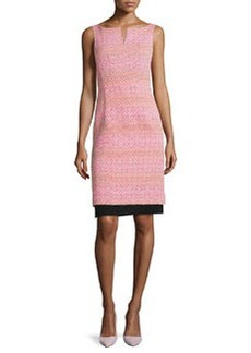 Nanette Lepore Seascape Boat-Neck Sleeveless Knit Sheath Dress