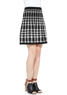 Nanette Lepore Series Plaid A-Line Skirt