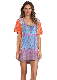 Nanette Lepore Short Sleeve Jersey Tunic in Blue