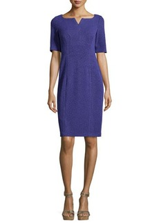 Nanette Lepore Short-Sleeve Textured Sheath Dress  Short-Sleeve Textured Sheath Dress