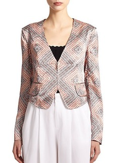 Nanette Lepore Silk Cropped Jacket
