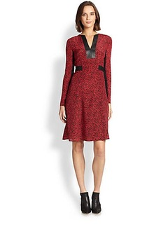 Nanette Lepore Silk Dewey-Decimal Dress