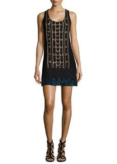 Nanette Lepore Sleeveless Beaded Shift Dress
