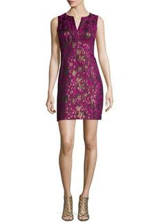 Nanette Lepore Sleeveless Floral Jacquard Sheath Dress  Sleeveless Floral Jacquard Sheath Dress