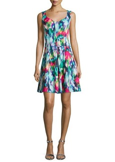 Nanette Lepore Sleeveless Floral-Print A-line Dress  Sleeveless Floral-Print A-line Dress