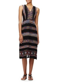Nanette Lepore Sleeveless Paisley-Print Midi Dress