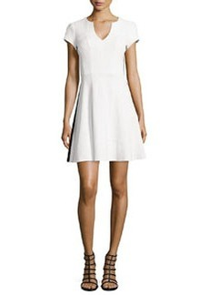 Nanette Lepore Song & Dance Cap-Sleeve Seersucker Dress