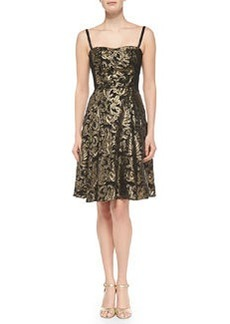Nanette Lepore Spotlight Metallic Jacquard Dress