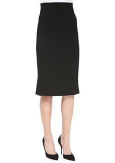 Nanette Lepore Straight Skirt with Inverted Pleats at Hem