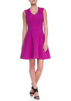 Nanette Lepore Stretch Ottoman Knit Fit-and-Flare Dress