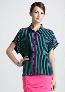 Nanette Lepore Striped Button-Down Blouse